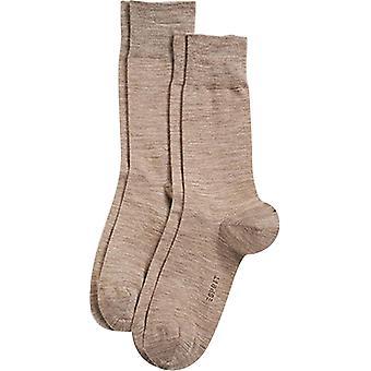 Esprit de lana elegante básico 2 Pack calcetines - marrón nuez moscada