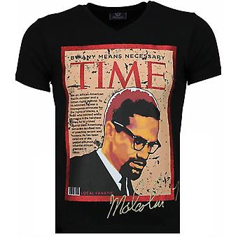 Malcolm X-T-shirt-Black