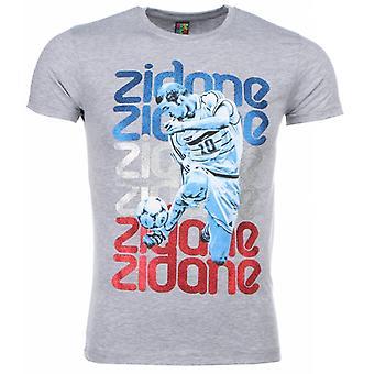 T-Shirt-Zidane Print-Grey