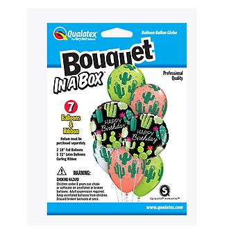 Party Supplies - Pioneer - 7 ct.Balloon Bouquet-in-a-Box Set - Birthday Cactuses 89062