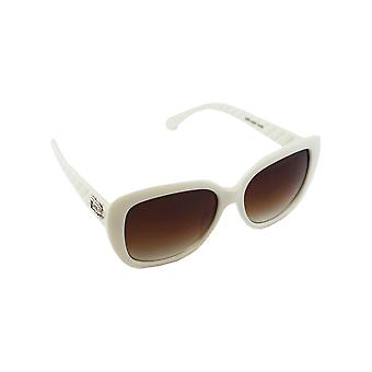 Lunettes de soleil UV 400 Cat Eye White Brown 2606-22606-2
