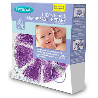 Lansinoh therapearl 3-in-1 borst therapie, herbruikbare pack, 2 ea
