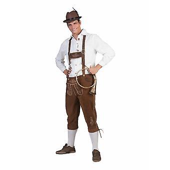 Costume da uomo trachtenhose Oktoberfest Bayern Pantaloni Lederhosenstyle Costume maschile