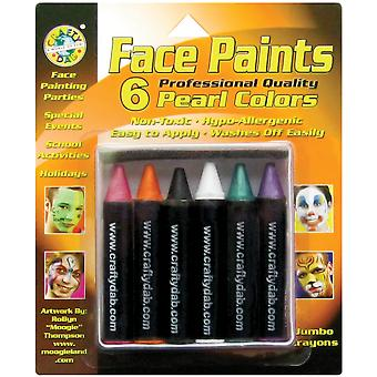 Jumbo Face Paints 6 Pkg Pearl 800 33