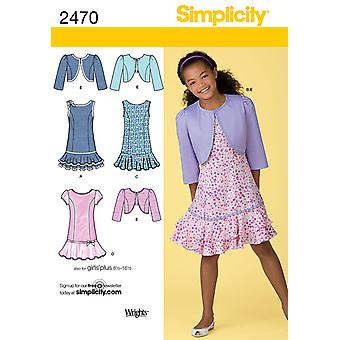 Simplicity Girl Boy Dresses 8 1 2  16 1 2 U02470bb