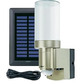 Solar outdoor wall light ( + motion detector) 3 W Cold white GEV 014831 Stainless steel
