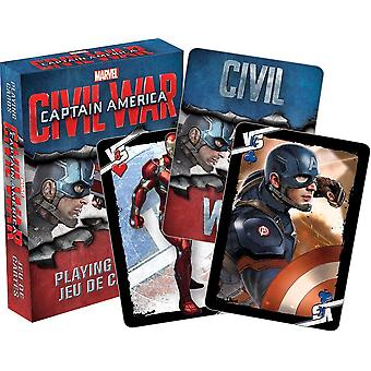 Captain America Civil War playing card game    (nm)