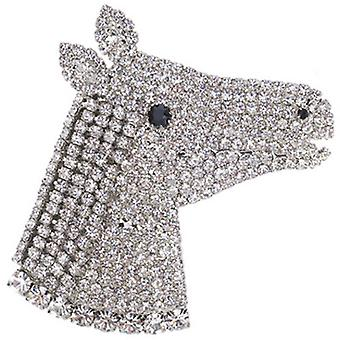 Martine Wester Crystal Horse Bust Brooch