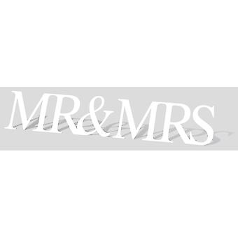 Mr & Mrs Giant Sign Cardboard Cutout / Standee / Stand Up
