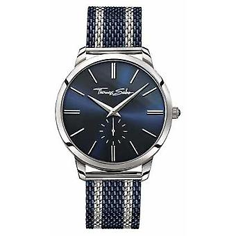 Thomas Sabo Mens Rebel Spirit Two Tone Steel Mesh Strap Blue Dial WA0268-281-209-42 Watch