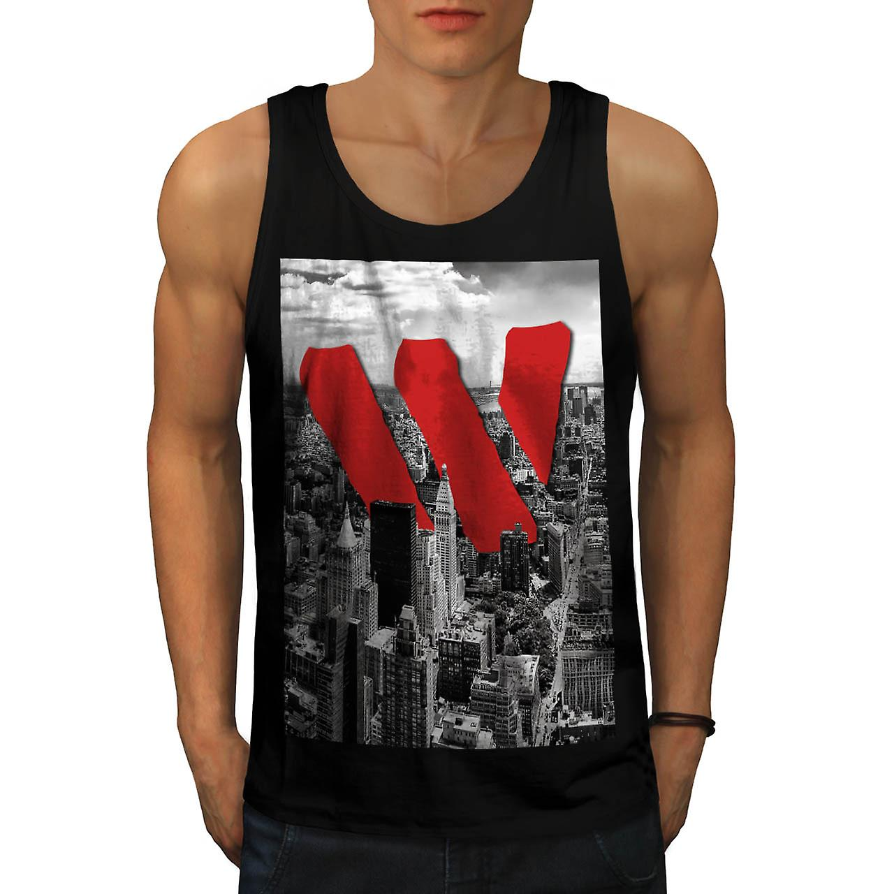 Vintage Apparel NYC New York Fun Men Black Tank Top | Wellcoda