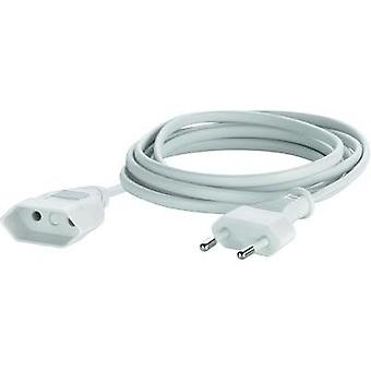 Current Extension cable [ Europlug - Euro connector] White 5 m Sygonix 33512R