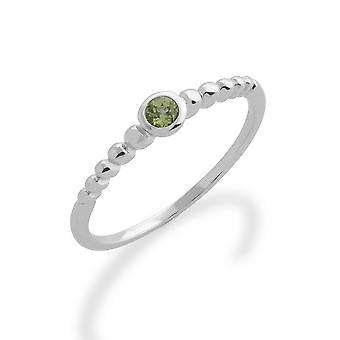Gemondo 925 Sterling Silver 0.10ct Peridot Stackable Birthstone Ring