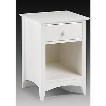 Treck White Stone Bedside Table - 1 Drawer - Fully Assembled Option