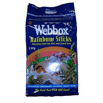 Webbox Rainbow holder sig flydende fisk mad til Koi & dam fisk 2,5 kg