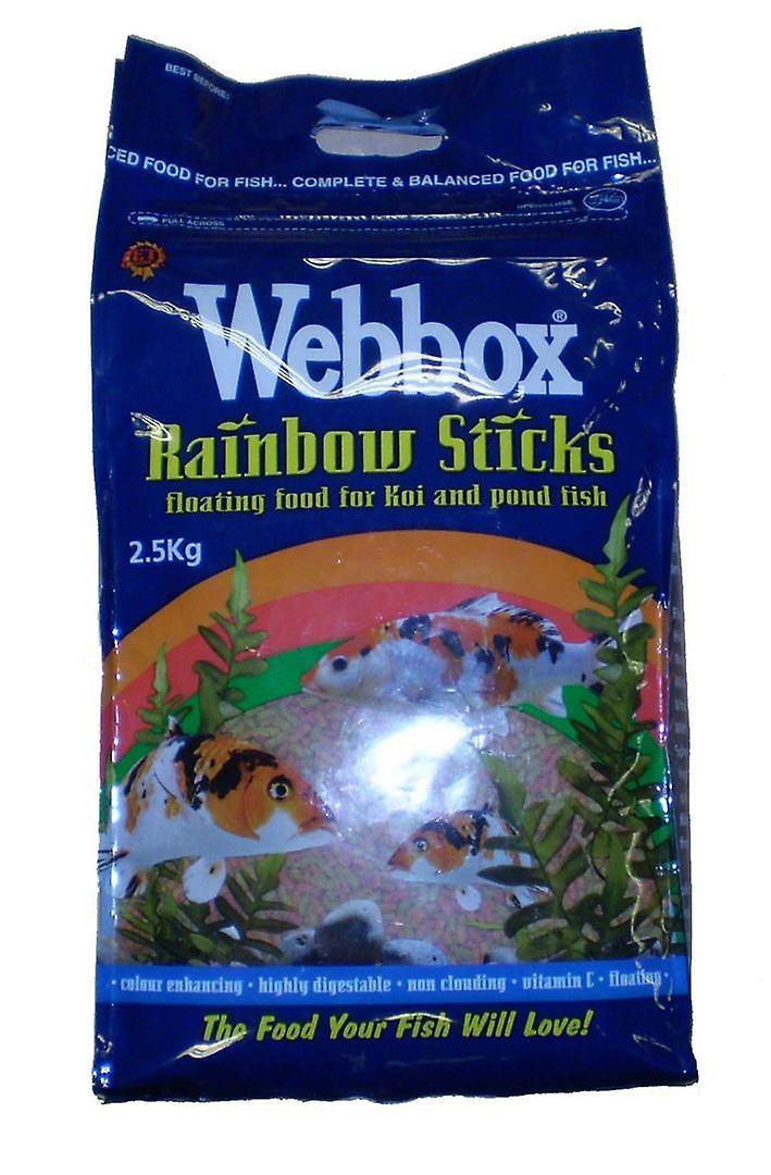 Webbox Rainbow Sticks Floating Fish Food For Koi & Pond Fish 2.5kg