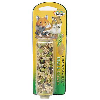 Quiko Grainola Bar Hamster & Gerbil Pea & Potato 71g (Pack of 6)