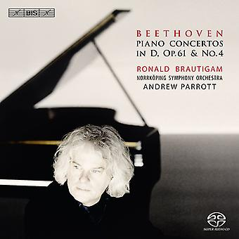 Brautigam/Norrkoping Symphony Orche - Beethoven: Piano Concerto No. 4; Piano Concerto in D, Op. 61 [SACD] USA import