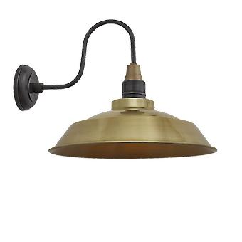 Brooklyn Vintage Swan Neck Wall Sconce - Step - Brass - 16