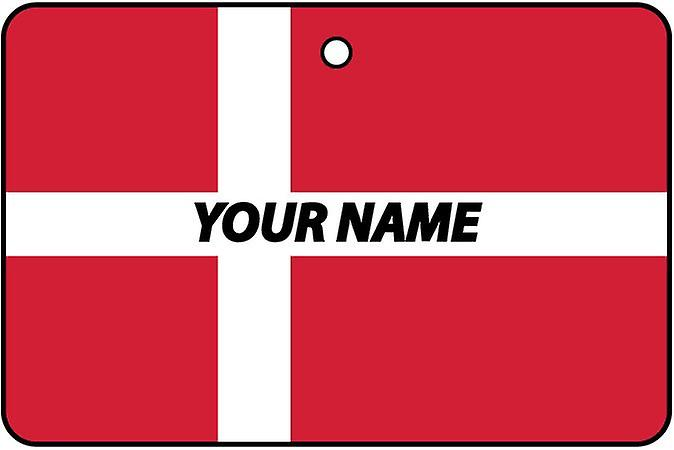 Denmark Flag Personalised Car Air Freshener