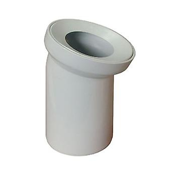 White WC Toilet Waste Water Pan Connector Soil Pipe 110mm Elbow