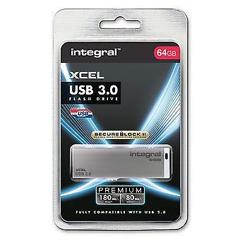Bastone di integrale 128GB XCEL veloce USB 3.0 - fino a 10 più veloce di USB 2.0 - 130MB/s