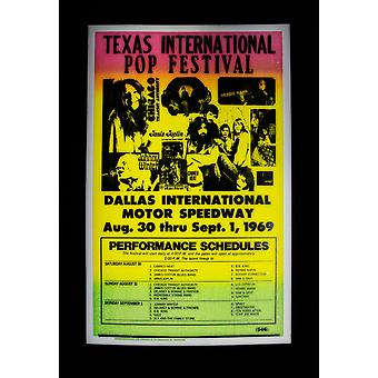 Texas Int. retro concert poster