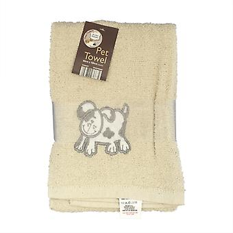 Country Club Pet Towel 60x120cm Cream Dog