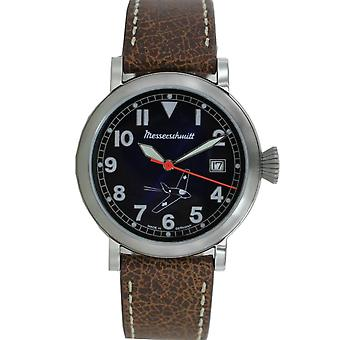 Aristo Messerschmitt mens pilot watch Comet ME 163BL leather