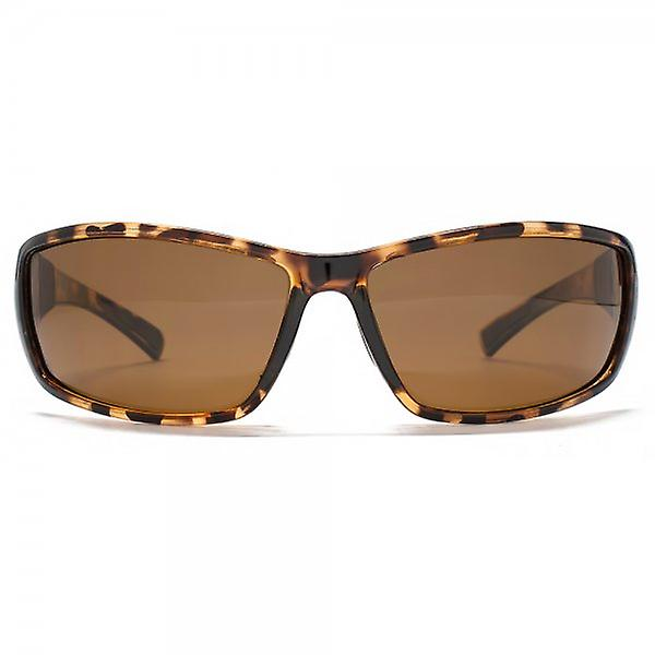 Freedom Polarised Rubber Trim Sports Wrap Sunglasses Tortoiseshell