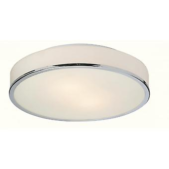 Firstlight moderne krom Opal glas skygge Flush Loftlys