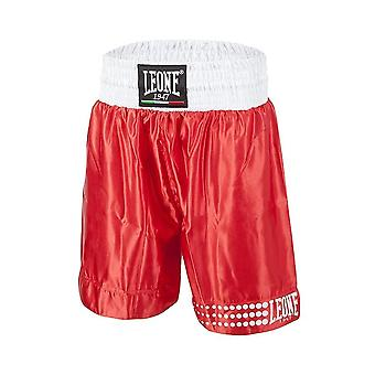 Leone 1947 Satin Boxing Shorts - Red & White
