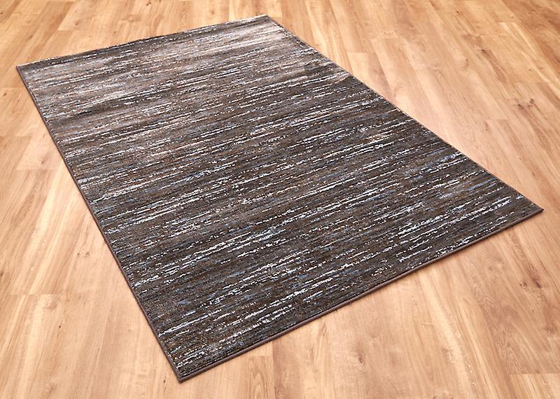 Tapis brun bleu Rectangle tapis Plain presque plaine strates 15002 7242