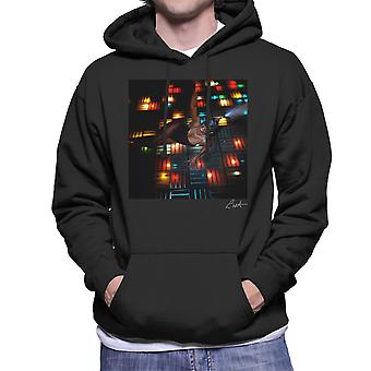 Grace Jones Disco lichten fotoshoot mannen 2008 Hooded Sweatshirt