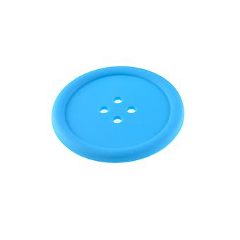 Giant Button Silicone Coaster - Light Blue