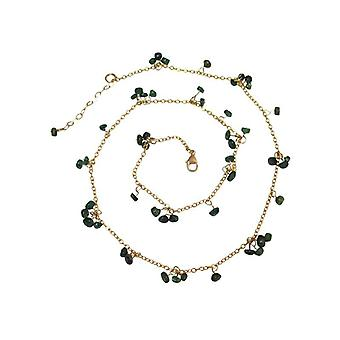 Emeralds Emerald Necklace green Emerald Necklace gold plated