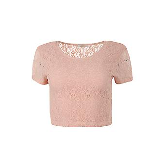 pièces Tracy lace shirt ladies crop top pink 17065066