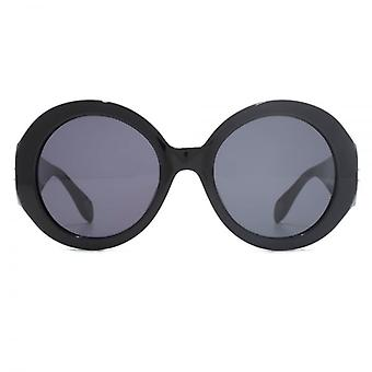 Alexander McQueen Edge Super Round Sunglasses In Black
