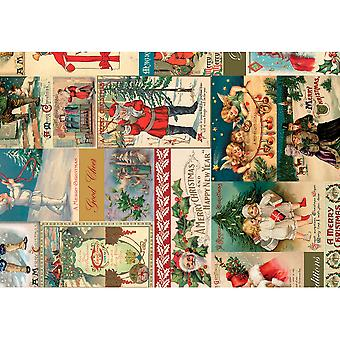 3 Decopatch Paper Sheets - Vintage Christmas Scene | Decoupage Crafts
