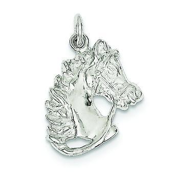 925 Sterling Silber solide offene zurück Pferd Charme - 2,4 Gramm