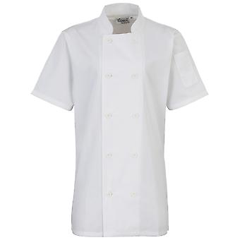 Premier Womens/Ladies Short Sleeve Chefs Jacket / Chefswear