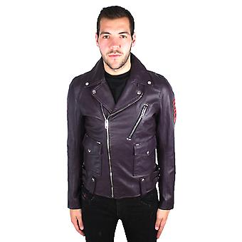 Diesel L-Beck-EMB 63F Leather Jacket