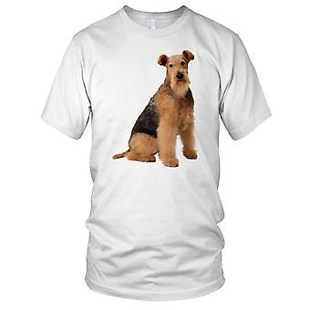 Airedale Terrier Cute Pet Dog Mens T Shirt