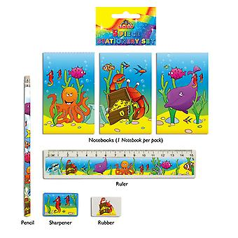 Sealife-5-tlg-Briefpapier-Set