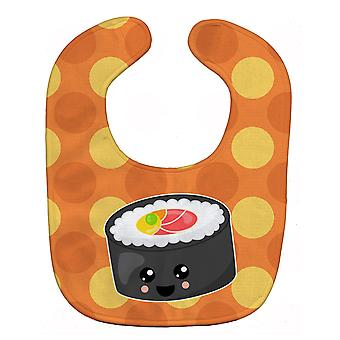 Carolines schatten BB8802BIB Sushi Roll met gezicht Baby slabbetje