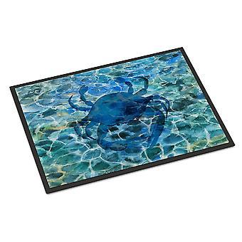 Carolines skarby BB5369MAT Blue Crab pod wodą wewnątrz lub na zewnątrz Mat 18 x 27