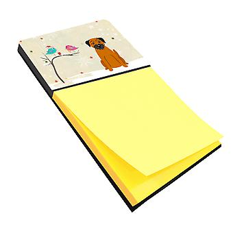 Christmas Presents between Friends Border Terrier Sticky Note Holder