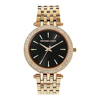 Michael Kors Watches Mk3402 Darci Black & Rose Gold Tone Stainless Steel Ladies Watch