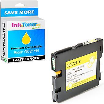GC21YH kompatybilne kasety z żółtym 405547 atrament do Ricoh Aficio GX3000