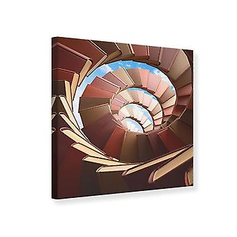 Canvas Print Abstract Books wenteltrap